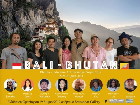 Bali Bhutan Art Exchange Project 18-24 Aug 2019 Antonius Kho Group Exhibition