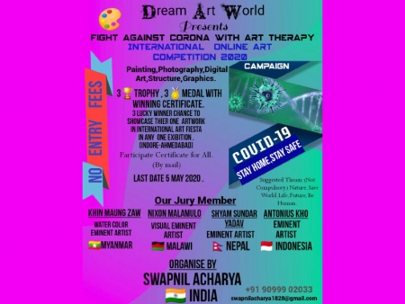 FIGHT AGAINST CORONA WITH ART THERAPY International Online Art Competition 2020